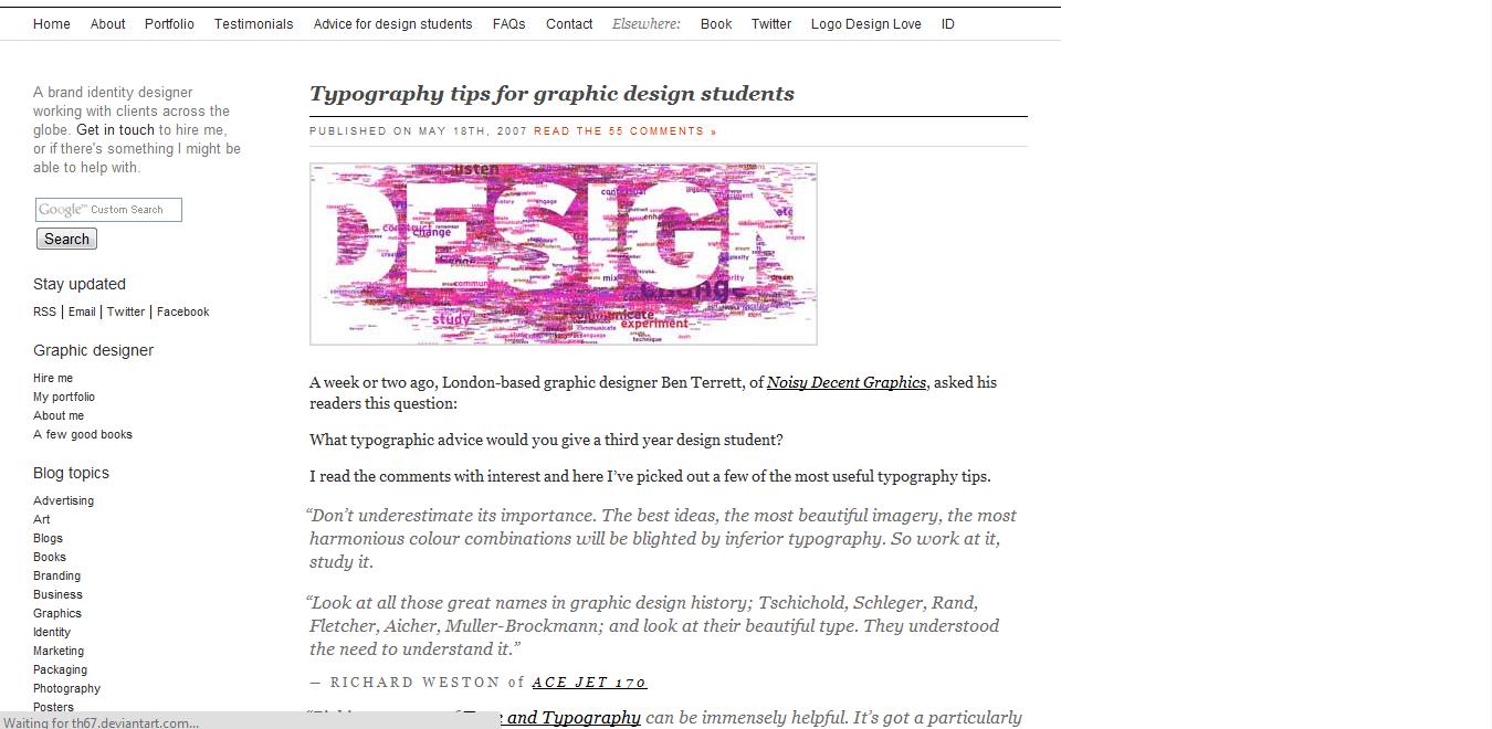 Http Www Davidairey Com Advice For Design Students